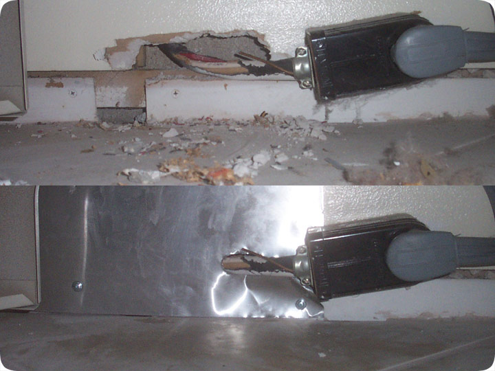 Fix Rat Hole To Keep Rats Out Of House