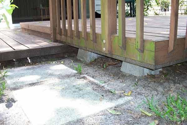 Exclusion Barrier Around Deck