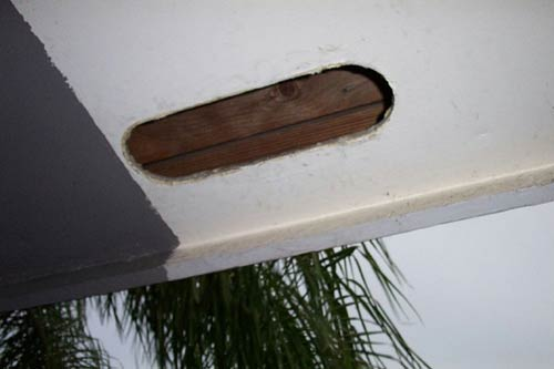 Exclusion Barrier Torn Open Soffit Cover Raccoon Entry